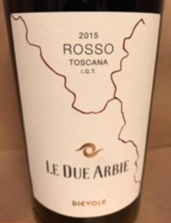 Rosso Toscana I.G.T 2015, 13%vol. Dievole.