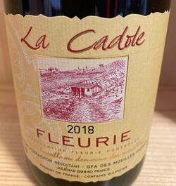Fleurie 2018 Laurent Perrachon, La Cadole.
